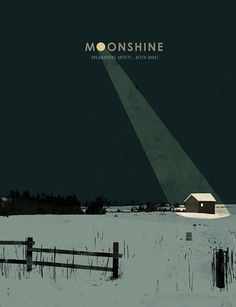 Cover design by Jon Klassen for the book 'MOONSHINE: DREAMWORKS ARTISTS...AFTER DARK!' A collection of art by the studio's illustrators when not working on studio projects.