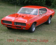 1969 GTO Judge; hubby's dream car