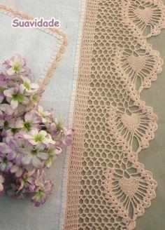 Crocheted edging patterns