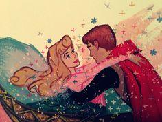 Aurora and Prince Phillip: original concept art. Just lovely! Disney Pixar, Retro Disney, Disney Fan Art, Vintage Disney, Disney And Dreamworks, Disney Animation, Disney Love, Disney Characters, Disney Stuff