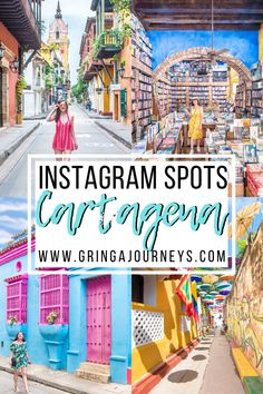 If you're planning to visit Cartagena, read this article for the exact locations of the best photo spots. I've even included a map at the end of this post! Visit Colombia, Colombia Travel, Top Travel Destinations, Places To Travel, Paros, Latin Travel, Travel Guides, Travel Tips, Travel Abroad