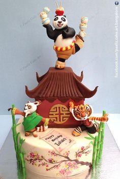 Kungfu Panda Cake - Bangalore India - Cake by Paaliz Cake Art Bangalore