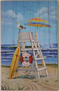 California Seashell Company Retail - Lifeguard Chair - Printed Wood Sign, $13.99 (http://www.caseashells.com/lifeguard-chair-printed-wood-sign/)