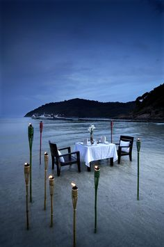 Dinner on the beach at the Taara Beach & Spa Resort, Redang Island - Malaysia