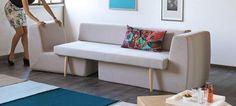 これも誰も思いつかなかったのかなあ?せまい日本のお家向き。@Gizmodo: This single sofa becomes a full living room set (@Yano_Akiko)