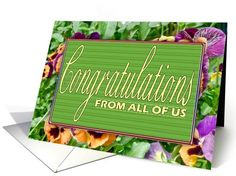 Floral Congratulations Retirement Card From All Of Us card (626461)