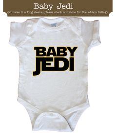 Personalized Jedi Little Big Sibling Brother Sister by Sweetteez1, $14.00