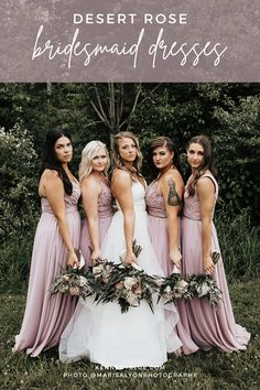 Desert rose is a timeless color that looks good on everyone! It is a dusty pink/purple that we cannot get enough of! With over 70 styles in sizes 00-32, you can mix and match all day long! Find the perfect bridesmaid dresses at Kennedy Blue! Your girls are sure to feel confident and comfortable in these affordable high quality bridesmaid gowns. #bridalpartyinspiration #weddingcolorpalette #desertrosebridesmaiddresses #mismatchedbridesmaids #weddinginspiration #desertrose #bridalpartyplanning Dusty Rose Color, Dusty Pink, Pink Purple, Blue, Rose Bridesmaid Dresses, Affordable Bridesmaid Dresses, Wedding Dresses, Wedding Inspiration, Wedding Ideas
