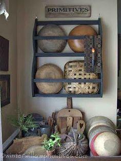 bowls and basket