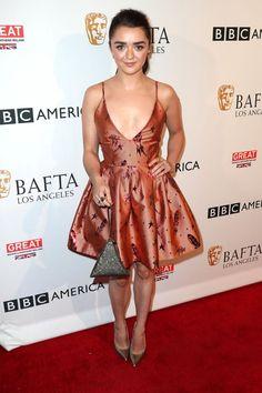 "Photo"" David Livingston / Hollywood Reporter. Maisie Williams at the BAFTA tea party"