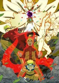 Naruto evolución kyubbi