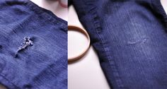 How to Patch Your Jeans (Tutorial)