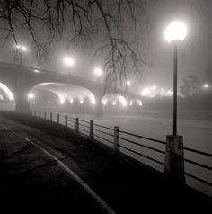 Foggy Night by Jordan Craig, Black and White Archival Print, Photograph | Koyman Galleries