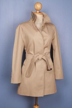 Beautiful vintage Burberry trench coat, refurbished to a modern look, size S, $179