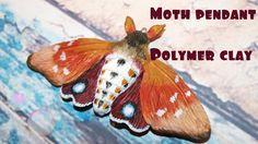 Moth pendant tutorial//Polymer clay