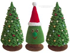 _______!!!_______!!!__________!!!_______!!! Je moet weten hoe te breien en haak Voltooi deze kerstboom. Base voor beide bomen zijn gebreid en alleen de takken worden gehaakt. !!!_______!!!_______!!!__________!!!_______!!!  Ik heb een ander kerstboom die haak alleen als u niet bekend bent met breien: www.etsy.com/uk/listing/84867387/crochet-christmas-tree-pattern https://www.etsy.com/uk/listing/250910528/085-christmas-tree-new-year-crochet   Deze aanbieding is voor een INSTANT DOWNLOAD PDF…