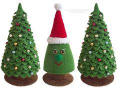 Weihnachtsbäume häkeln