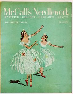 Crossstitch ballerinas - this crossstitch was on my wall when I was growing up.  It's amazing what you can find on Pinterest!