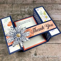 Daisy Delight Bridge Fold Card - The Paper Pixie