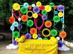 Desi Wedding Decor, Wedding Stage Decorations, Backdrop Decorations, Diy Party Decorations, Flower Decorations, Marriage Decoration, Wedding Mandap, Wedding Ideas, Wedding Receptions