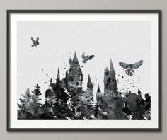 Hogwarts Harry Potter Watercolor illustrations Art Print for framing Wall Art Poster Giclee Wall Decor Art Home Decor Wall Hanging No 41 by CocoMilla on Etsy https://www.etsy.com/listing/178783488/hogwarts-harry-potter-watercolor