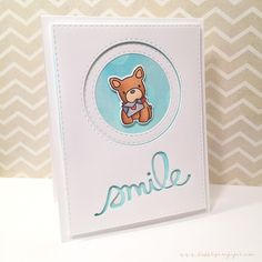 CAS Mama Elephant Playful Pups card - bjl