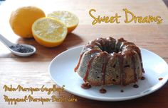 Poppy and marzipan ring cake with orange syrup / Poppy seed-marzipan-bundt cake with orange syrup