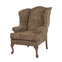 The Paisley Cranberry chair is proudly handcrafted in the USA and offers a solid hardwood frame, drop-in coil suspension system which offers superior comfort and stability and welting on all seams. The paisley design fabric is an extra plush chenille Wingback Accent Chair, Chair Upholstery, Chair And Ottoman, Wingback Chairs, Chair Fabric, Desk Chair, Upholstered Chairs, Armchairs, Seat Cushion Foam