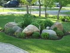 Landscaping With Rocks, Front Yard Landscaping, Backyard Landscaping, Landscaping Ideas, Backyard Ideas, Backyard Ponds, Landscaping Software, Front Yard Decor, Front Yard Design