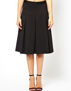 ASOS | ASOS Midi Skirt with Box Pleats at ASOS