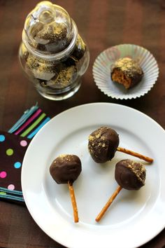 I made a cheating version with cake mix and even those were good!!! Dark Chocolate Pumpkin Truffles