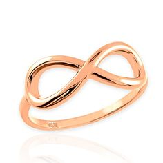 Promise Rings Simple   High Polish 10k Rose Gold Infinity Ring 6 >>> You can get more details by clicking on the image. Note:It is Affiliate Link to Amazon.