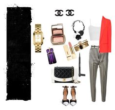 """Untitled #7"" by lotshina ❤ liked on Polyvore featuring Petar Petrov, Topshop, MANGO, Oscar de la Renta, Chanel, Hourglass Cosmetics, Givenchy, Thierry Mugler, Accessorize and Tory Burch"