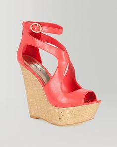 2. sexy summer sandals {bebe Caitlyn Metallic Woven Wedge Sandal} #bebe #wishanddreams