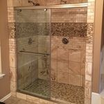 Glazed Java Tan White Pebble Tile Shower Floor Walls Pebble regarding size 2448 X 3264 Tile For Shower Floor And Walls - In fact, the selection of tile acc Pebble Tile Shower Floor, Shower Tub, Shower Walls, Travertine Shower, Rock Shower, Tile Showers, Bathroom Showers, Small Bathroom, Master Bathroom