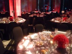 Balls to red Carnations. Spanish Decoration to Barcelona Event in La LLotja de Mar.