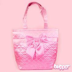 Pink Satin Shoulder Bag with Ribbon - Bags & Purses | Blippo Kawaii Shop