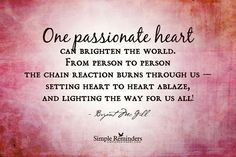 One passionate heart