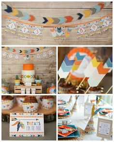 Tribal Little Brave Man themed baby shower via Kara's Party Ideas KarasPartyIdeas.com #tribalbabyshower (2)