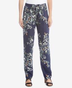 Karen Kane Drawstring Printed Pants