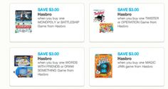 New Board Game Coupons: Save $3.00 on Twister, Operation, Monopoly and more