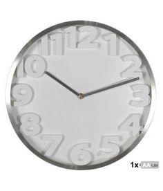 Reloj de pared aluminio con números 3D de 35 cm