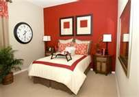Red accent wall for Ethans room