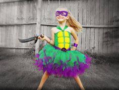Teenage Mutant Ninja Turtle Tutu Dress Costume by TutieCutieTutus Ninja Turtle Tutu, Ninja Turtle Birthday, Ninja Turtles, Batgirl, Catwoman, Abc Party Costumes, Teacher Costumes, Costume Ideas, Mickey Halloween