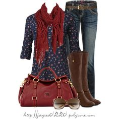 """""""Blue Floral and Red"""""""