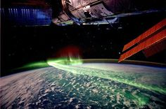 International Space Station astronaut Andre Kuipers captured spectacular aurora blazing over Antarctica and Australia during last week's solar storms from  space