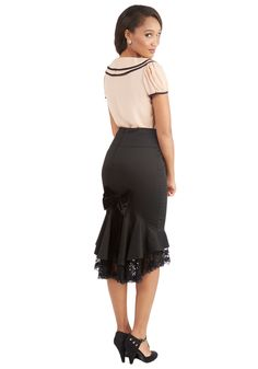 Say it With Style Skirt. This black skirt is an expression of your unique tastes, and so much more! #black #modcloth