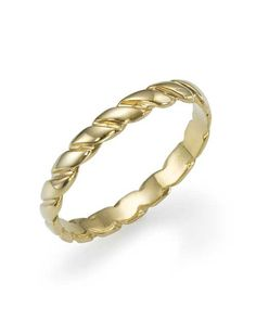 A beautiful twisted vintage style plain band, 2.8 mm wide, 1.4 mm high and weighing 2 grams in solid 14k yellow gold, 3 grams in 18k.