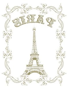 Transfer Paris printable Graphics Fairy, Free Graphics, Collages D'images, Wax Paper Transfers, French Typography, Paris Birthday Parties, Decoupage Printables, Foto Transfer, Craft Images