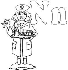 Nurses And Little Kids Coloring Pages | Printables *2 | Pinterest ...